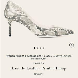 Lauren BY Ralph Lauren snake print heels